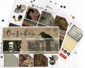 POE MONTHLY Layout Planner Stickers | You Pick Your Month | Storm Coffee