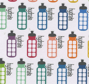 HYDRATION Planner Stickers | BeeColorful