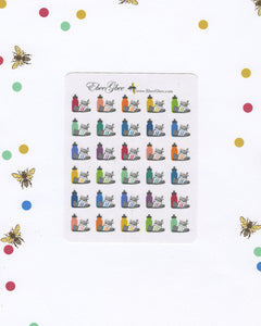 WALK Planner Stickers | BeeColorful