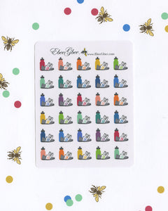 Run Planner Stickers | BeeColorful