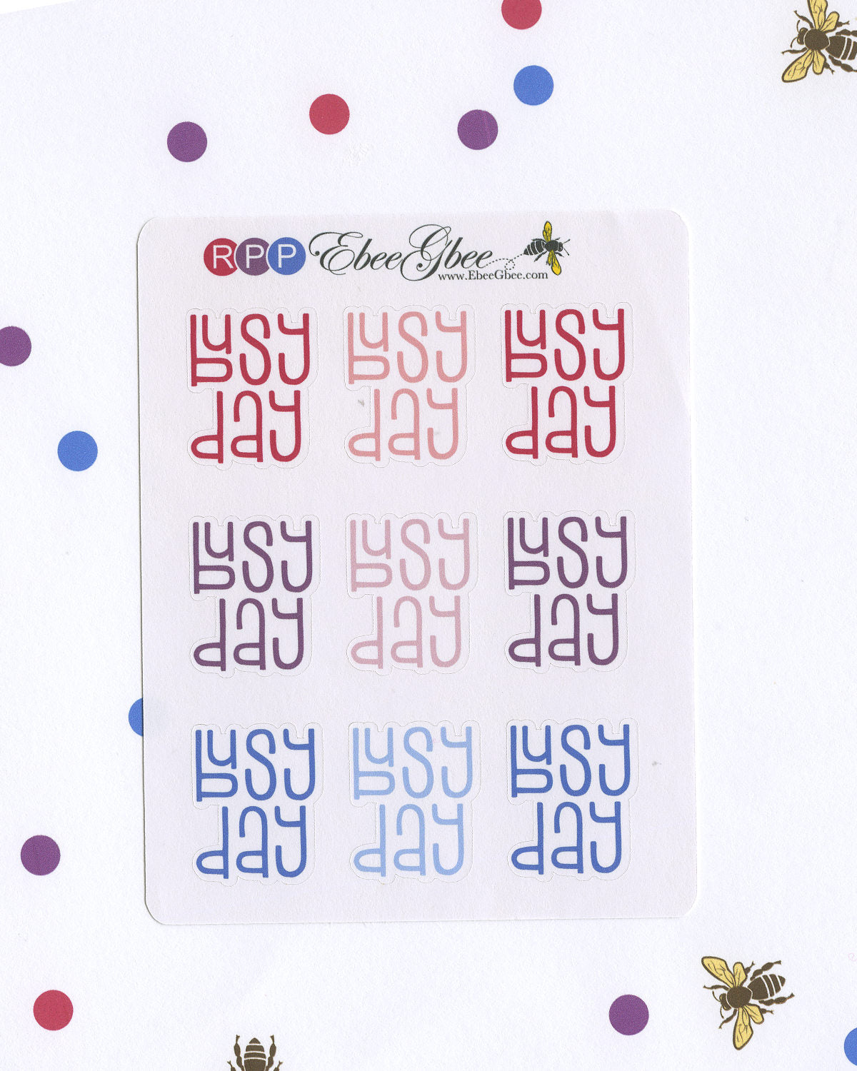 BUSY DAY Planner Stickers |  BeeColorful