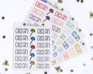 CLEAN Planner Stickers |  BeeColorful