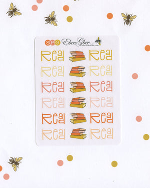 READ Planner Stickers |  BeeColorful