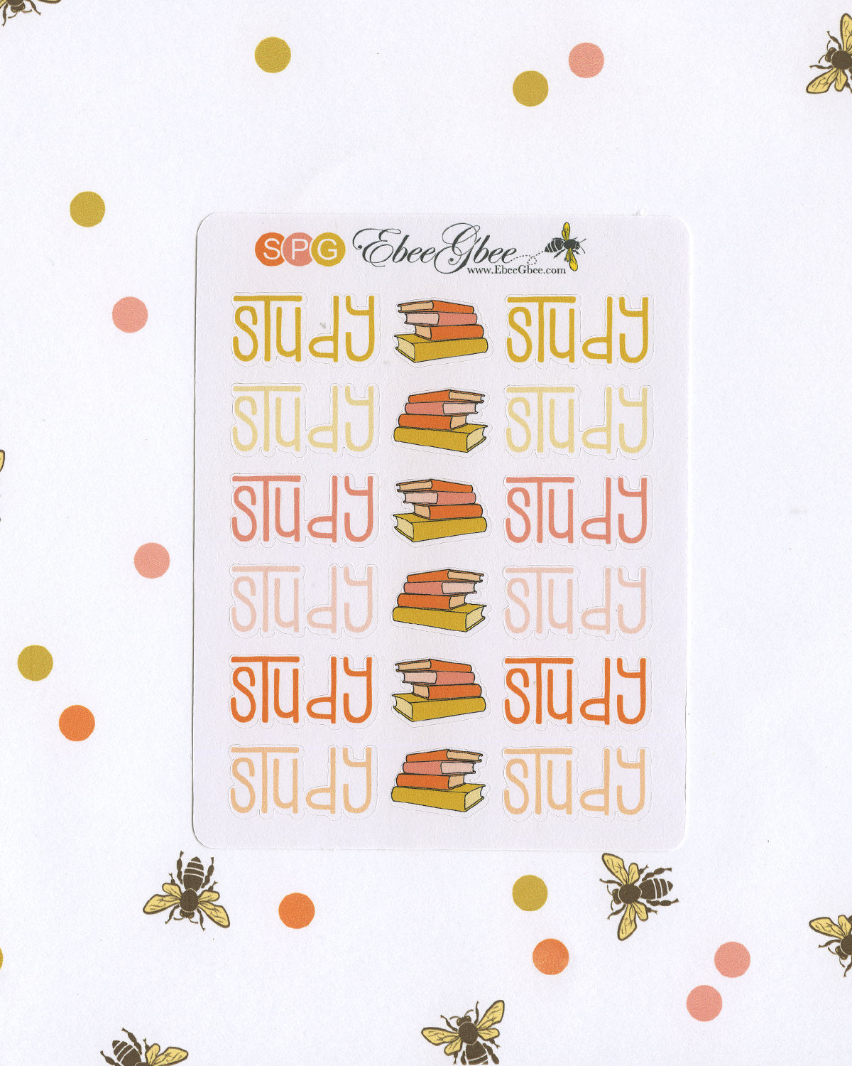 STUDY Planner Stickers |  BeeColorful