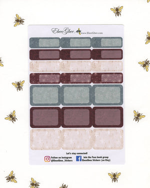 FROSTED CRANBERRY CHRISTMAS Weekly Planner Sticker Set |  Limited Edition Hand Painted Frosted Shimmer Accents