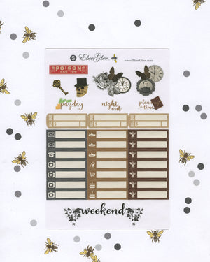 POE WEEKLY Planner Sticker Set | BeeColorful Storm  BeeMore Coffee