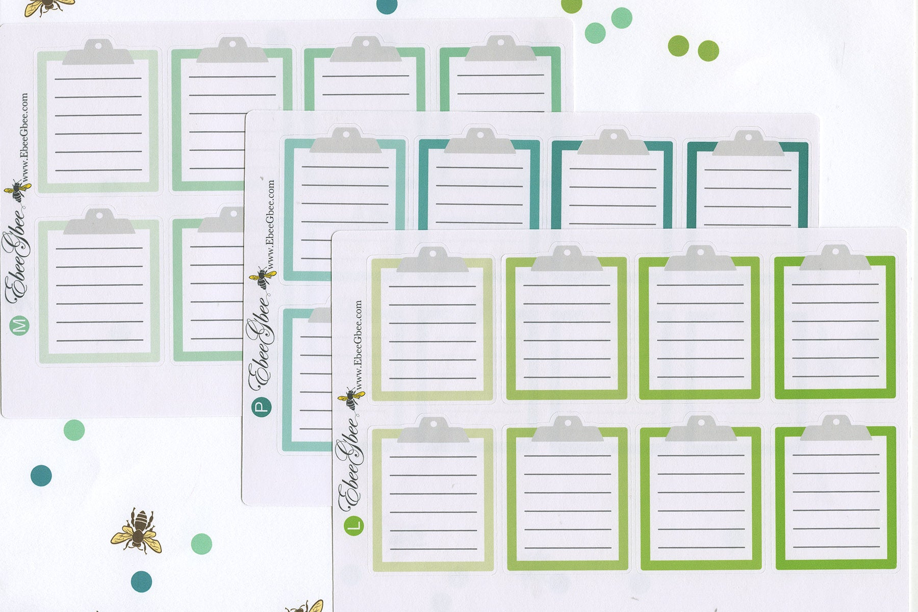 CLIPBOARD Planner Stickers | BeeColorful - Available in 13 Colors