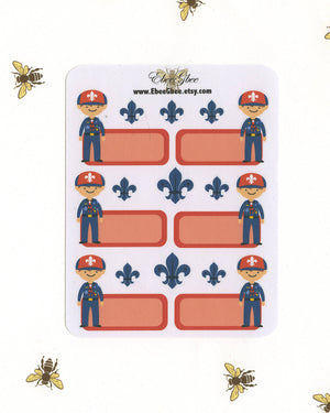 SCOUT BOY ORANGE Planner Stickers | Tiger