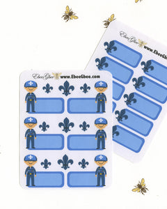 SCOUT BOY BLUE Planner Stickers | Bear