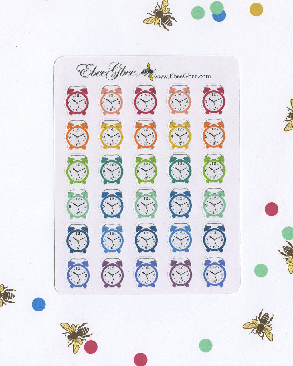 Clock Planner Stickers | BeeColorful