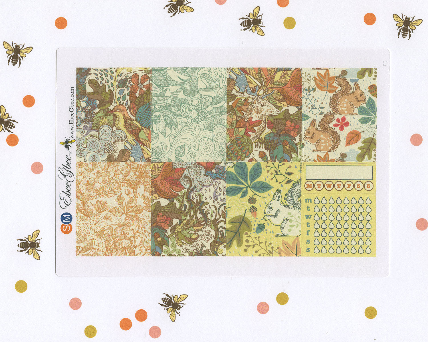 A LA CART Forest Weekly Planner Sticker Sheets | Sunset Midnight