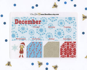 CANDY CANE MONTHLY Layout Planner Stickers | You Pick Your Month