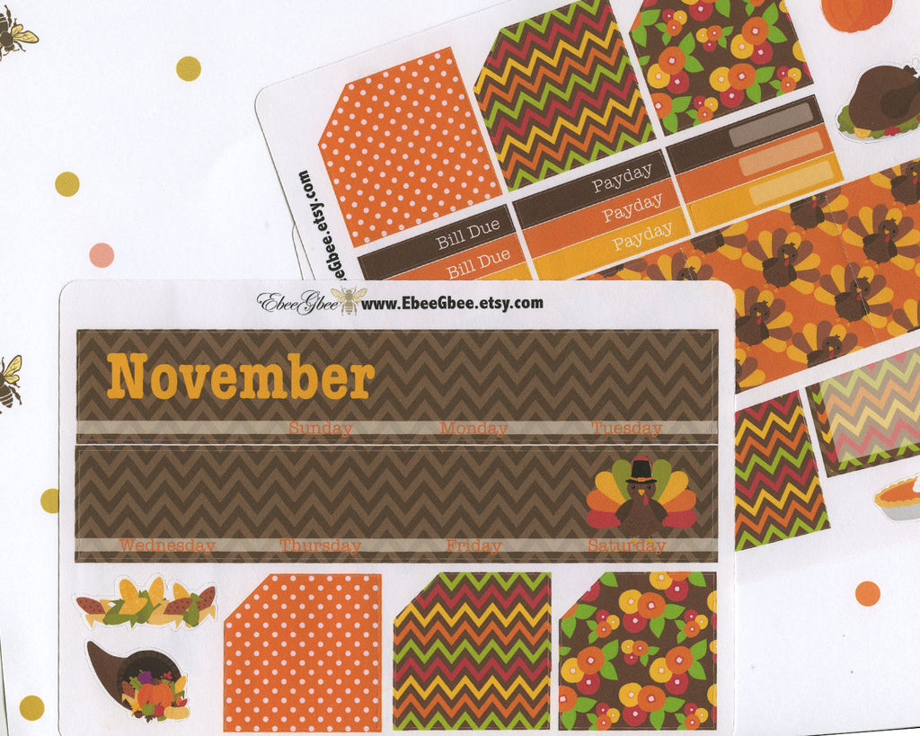 TURKEY MONTHLY Layout Planner Stickers | You Pick Your Month