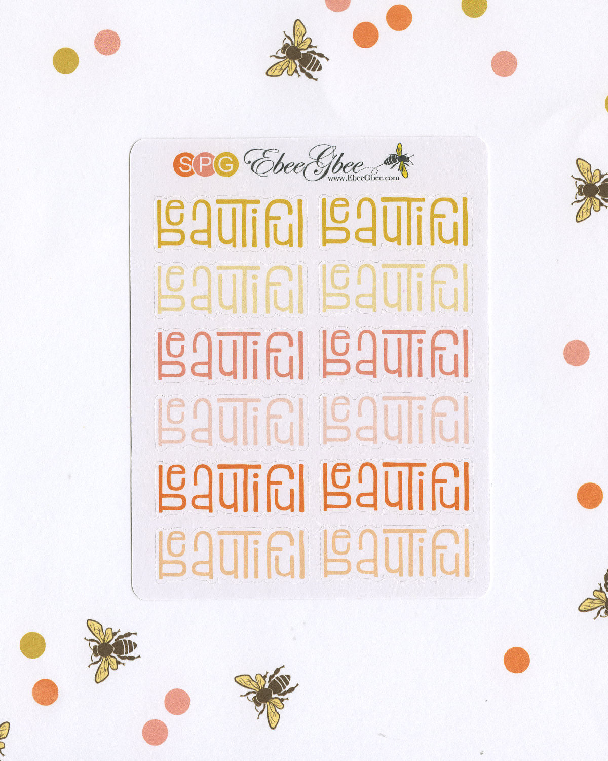 BEAUTIFUL Planner Stickers |  BeeColorful