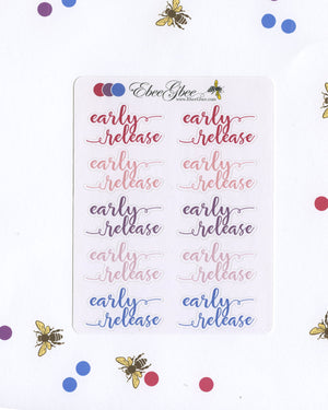 EARLY RELEASE Planner Stickers |  BeeColorful