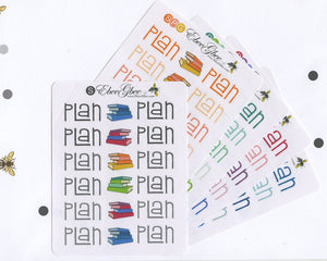 PLAN Planner Stickers |  BeeColorful
