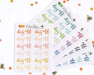 DAY OFF Planner Stickers |  BeeColorful