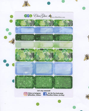 LUCKY WEEKLY Planner Sticker Set | BeeColorful Periwinkle Lime BeeBright Frog