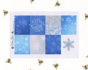 SNOW DAY WEEKLY Planner Sticker Set | Periwinkle