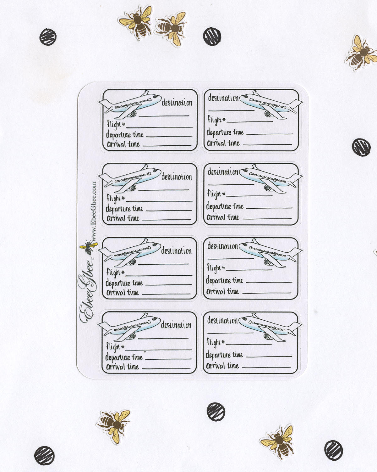 TRAVEL PLANS Planner Stickers | Hand Drawn BuJo Style