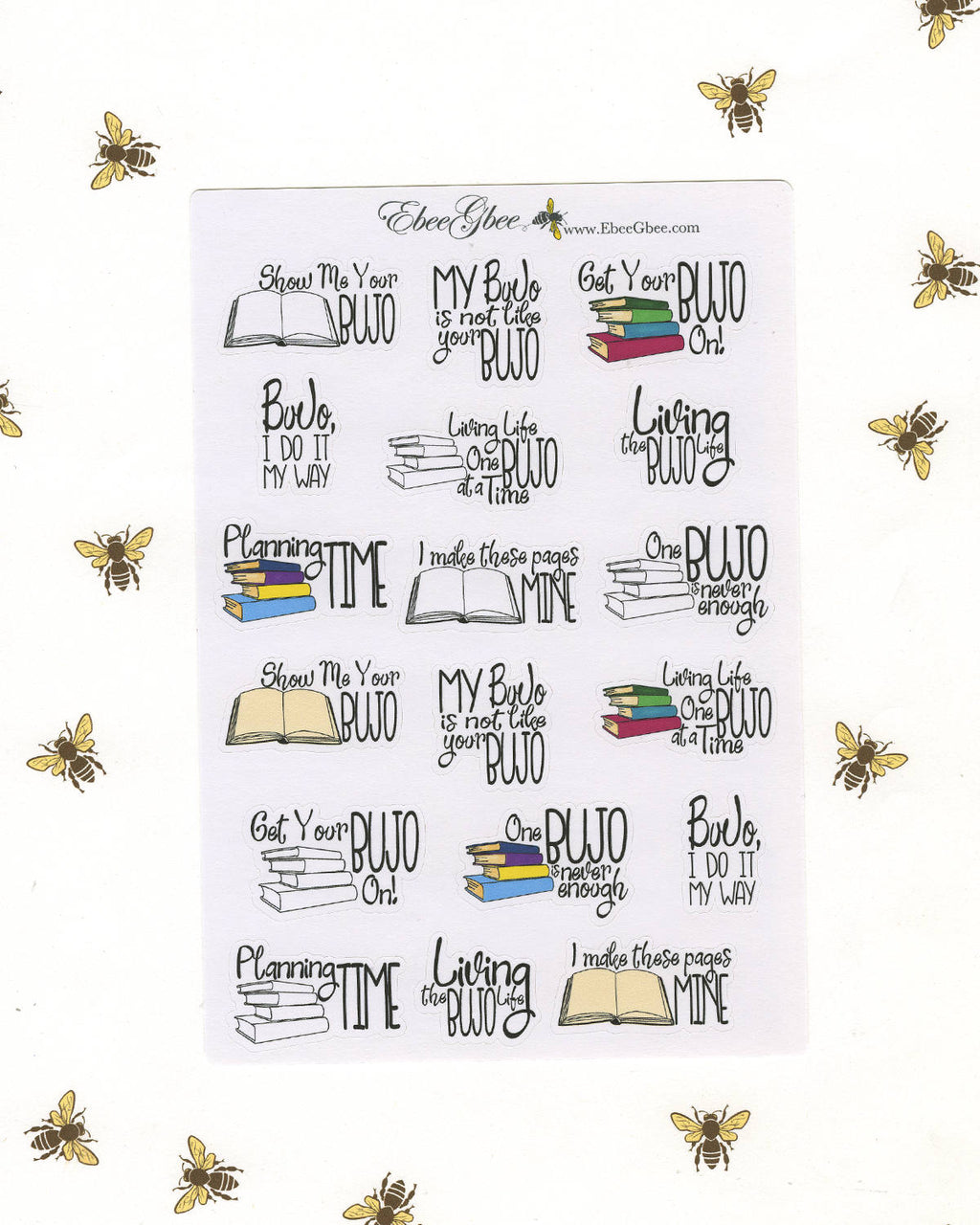 BUJO QUOTES Planner Stickers | Hand Drawn