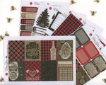 A LA CART LumberJack Weekly Planner Sticker Sheets |  Cherry  Coffee