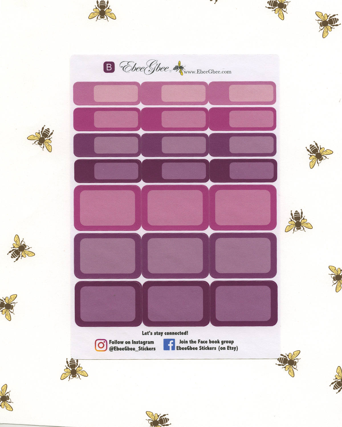 BOUGAINVILLEA  COLORFUL BOXES Planner Stickers | BeeMore