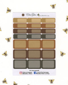 COFFEE  COLORFUL BOXES Planner Stickers | BeeMore