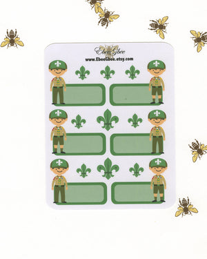 SCOUT BOY BROWN Planner Stickers | Boy