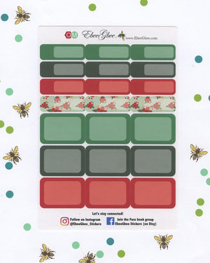 NOEL CHRISTMAS DELUXE Weekly Planner Sticker Set | BeeColorful Mint BeeBright Cherry