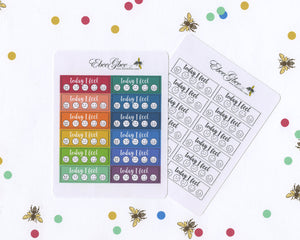 MOOD TRACKER Planner Stickers | Hand Drawn BuJo Style