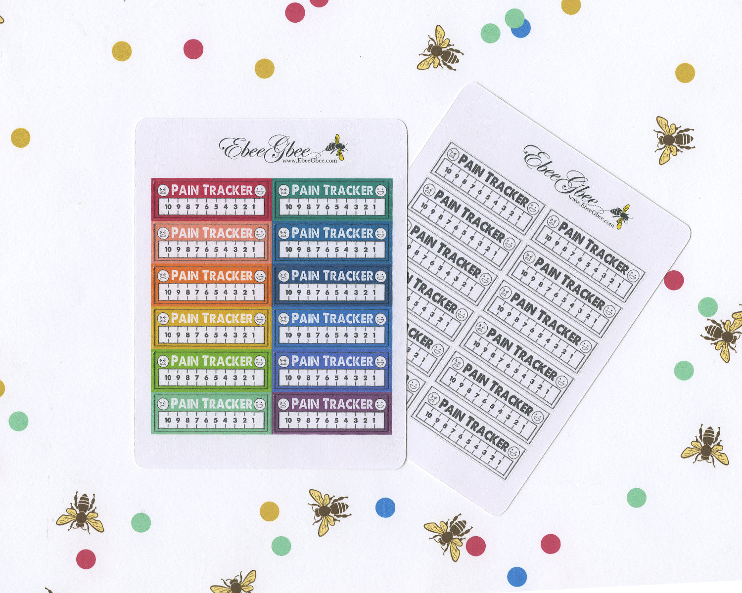 PAIN TRACKER Planner Stickers | Hand Drawn BuJo Style
