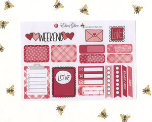 LOVE LETTERS SAMPLER Weekly Planner Sticker Set | Rose