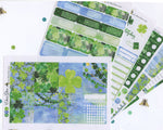 A LA CART LUCKY Weekly Planner Sticker Sheets | BeeColorful Periwinkle Lime BeeBright Frog