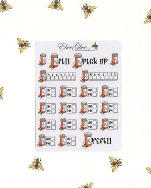 MEDICATION Planner Stickers | Hand Drawn