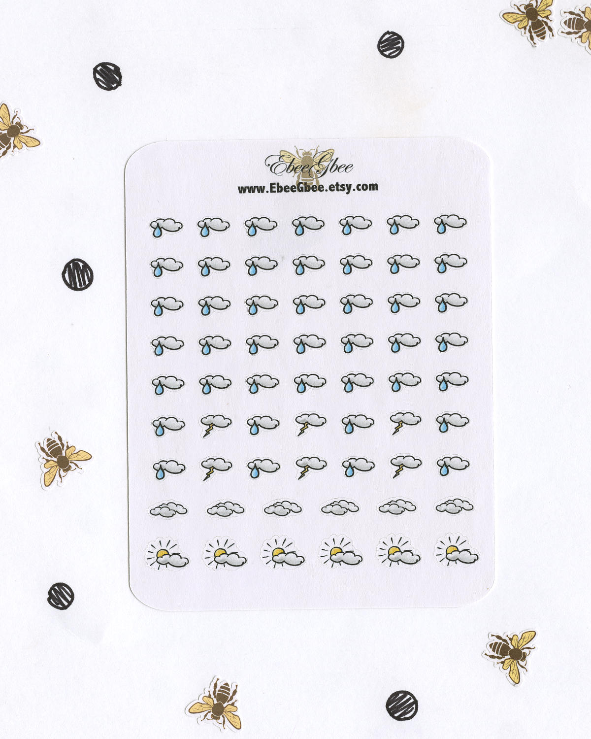 WEATHER Planner Stickers | Hand Drawn BuJo Style