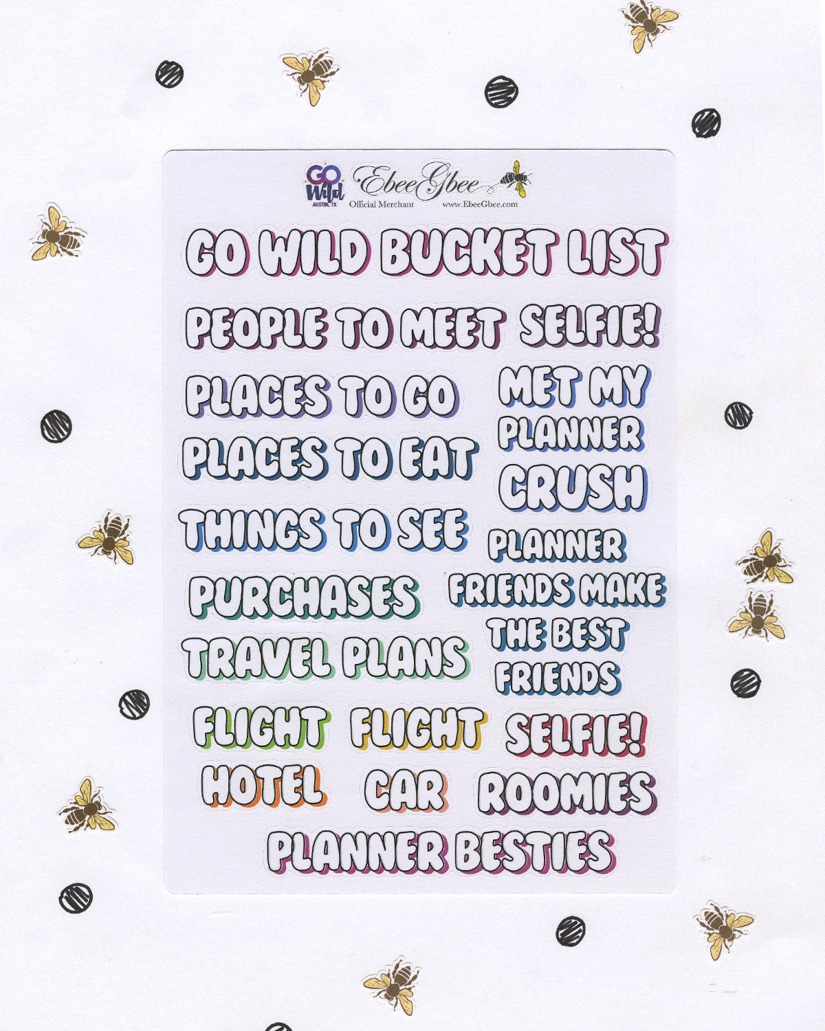 GO Wild BuJo Bundle Planner Sticker Sheets |