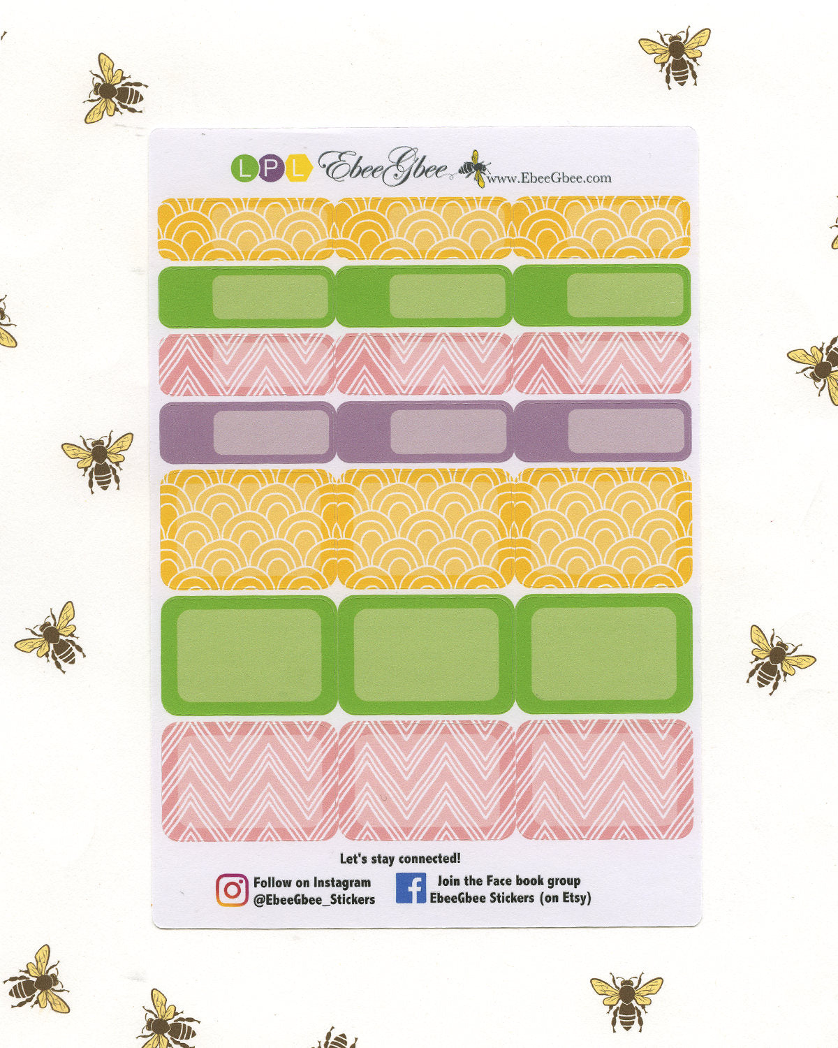 BLOOM DELUXE Weekly Planner Sticker Set | Lime Plum Lemon