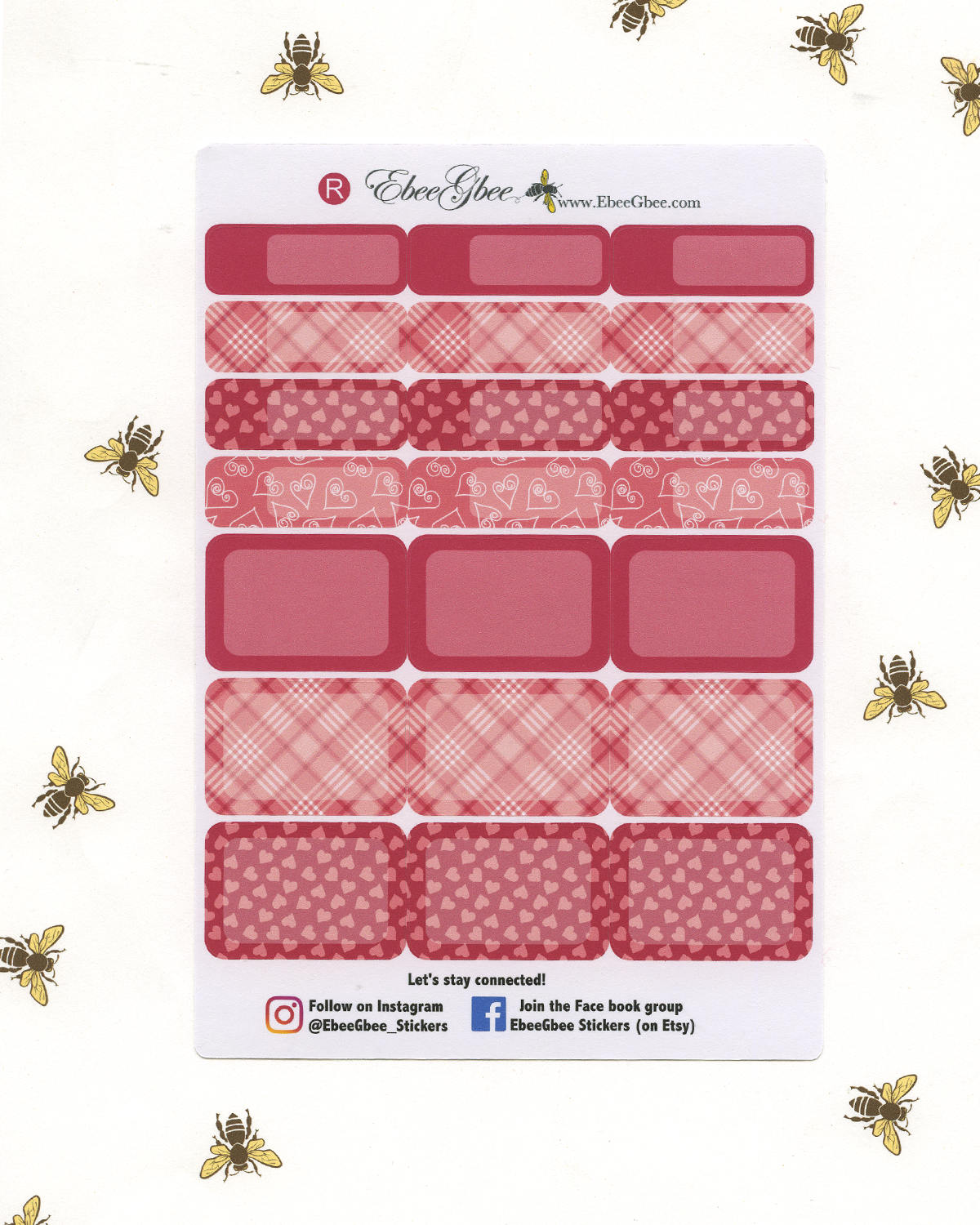 LOVE LETTERS WEEKLY Planner Sticker Set
