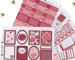 LOVE LETTERS DELUXE Weekly Planner Sticker Set | Rose