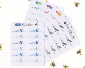 CALL SCRIPT Planner Stickers |  BeeColorful