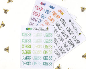 CLASS TYPOGRAPHY Planner Stickers |  BeeColorful
