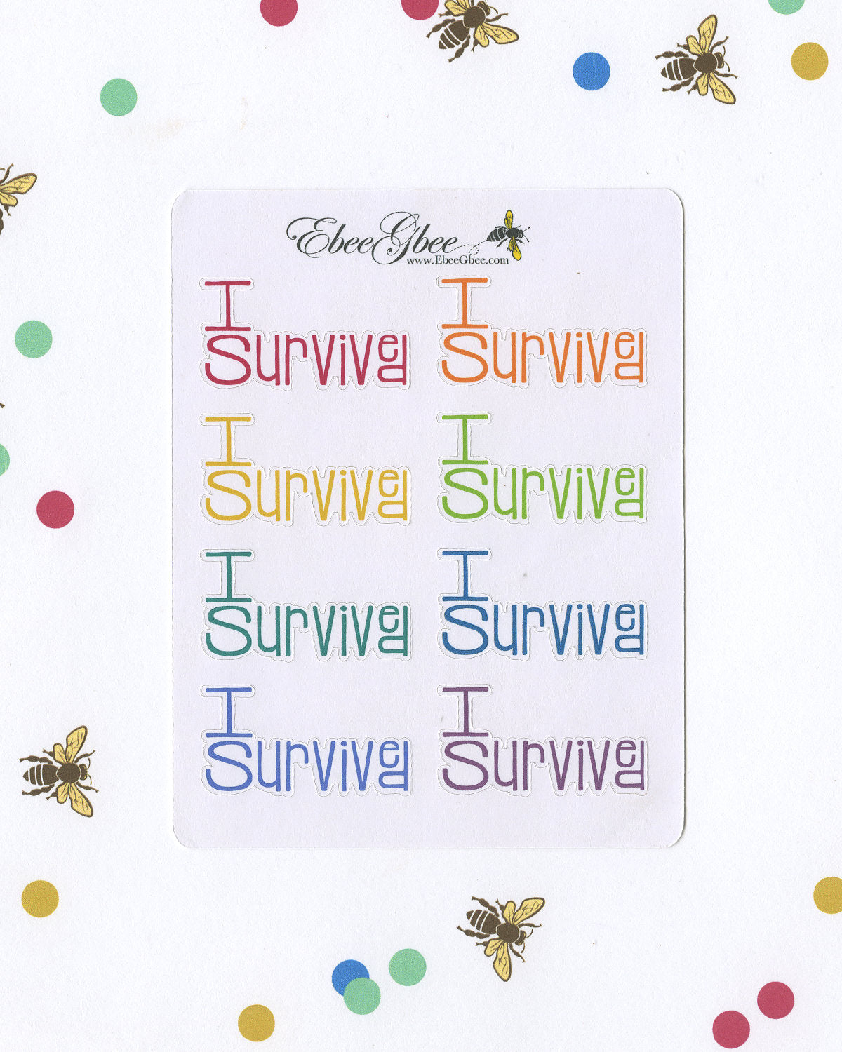 I SURVIVED TYPOGRAPHY Planner Stickers |  BeeColorful