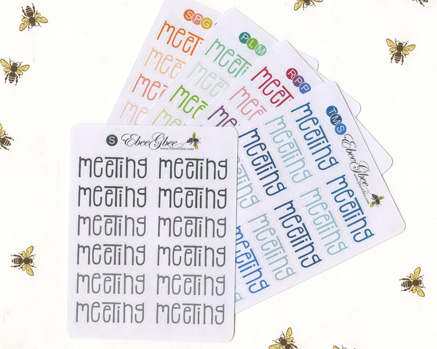 MEETING TYPOGRAPHY Planner Stickers |  BeeColorful