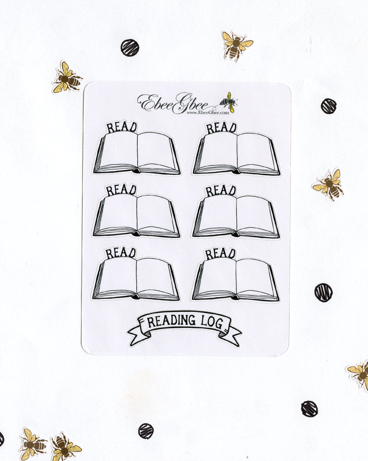 READING LOG Planner Stickers | Hand Drawn