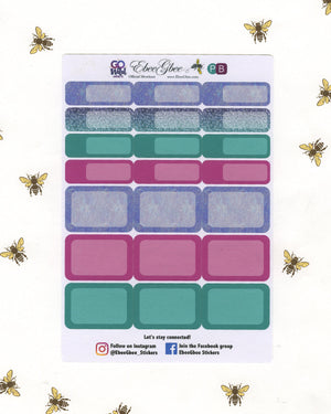 Go Wild & Free WEEKLY Planner Sticker Set | Pine Bougainvillea