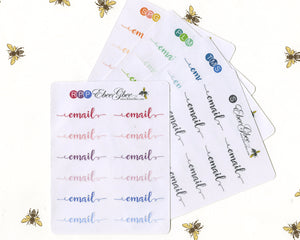 EMAIL SCRIPT Planner Stickers |  BeeColorful