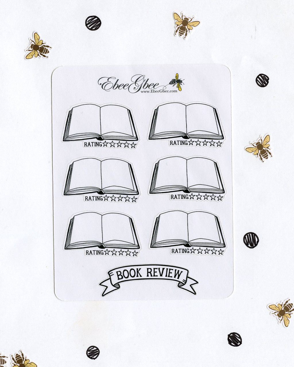 BOOK REVIEW Planner Stickers | Hand Drawn