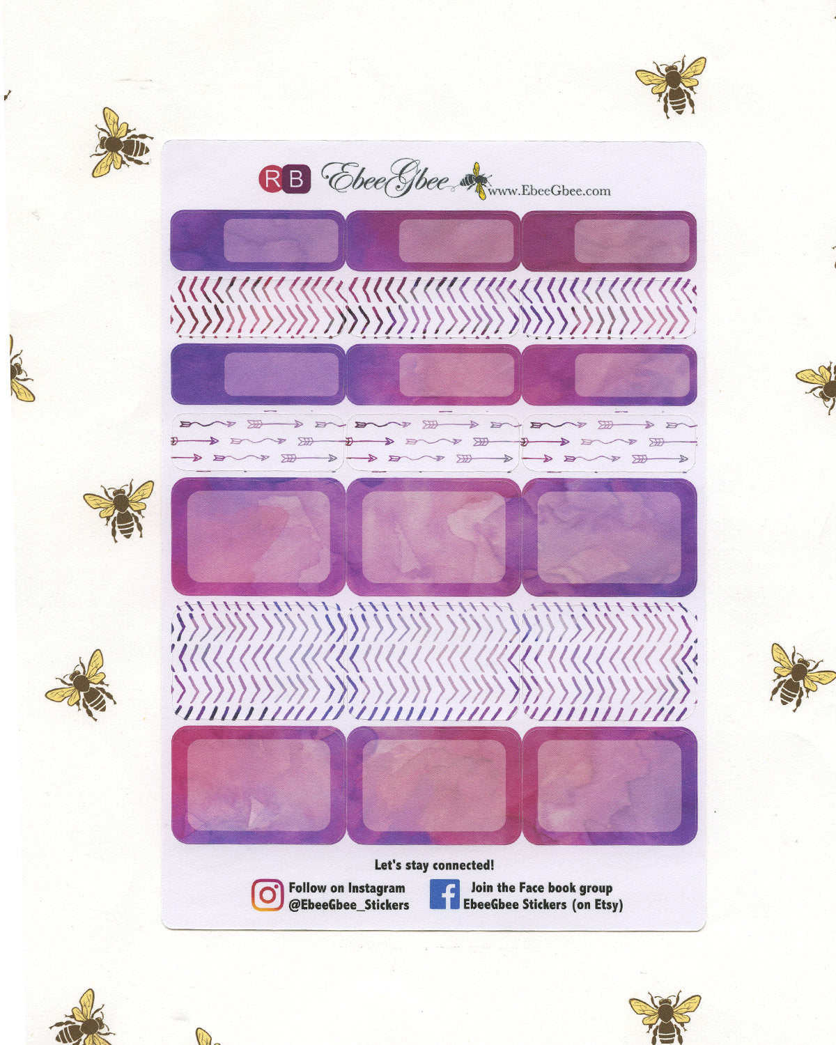 FEATHER WEEKLY Planner Sticker Set | Rose Bougainvillea