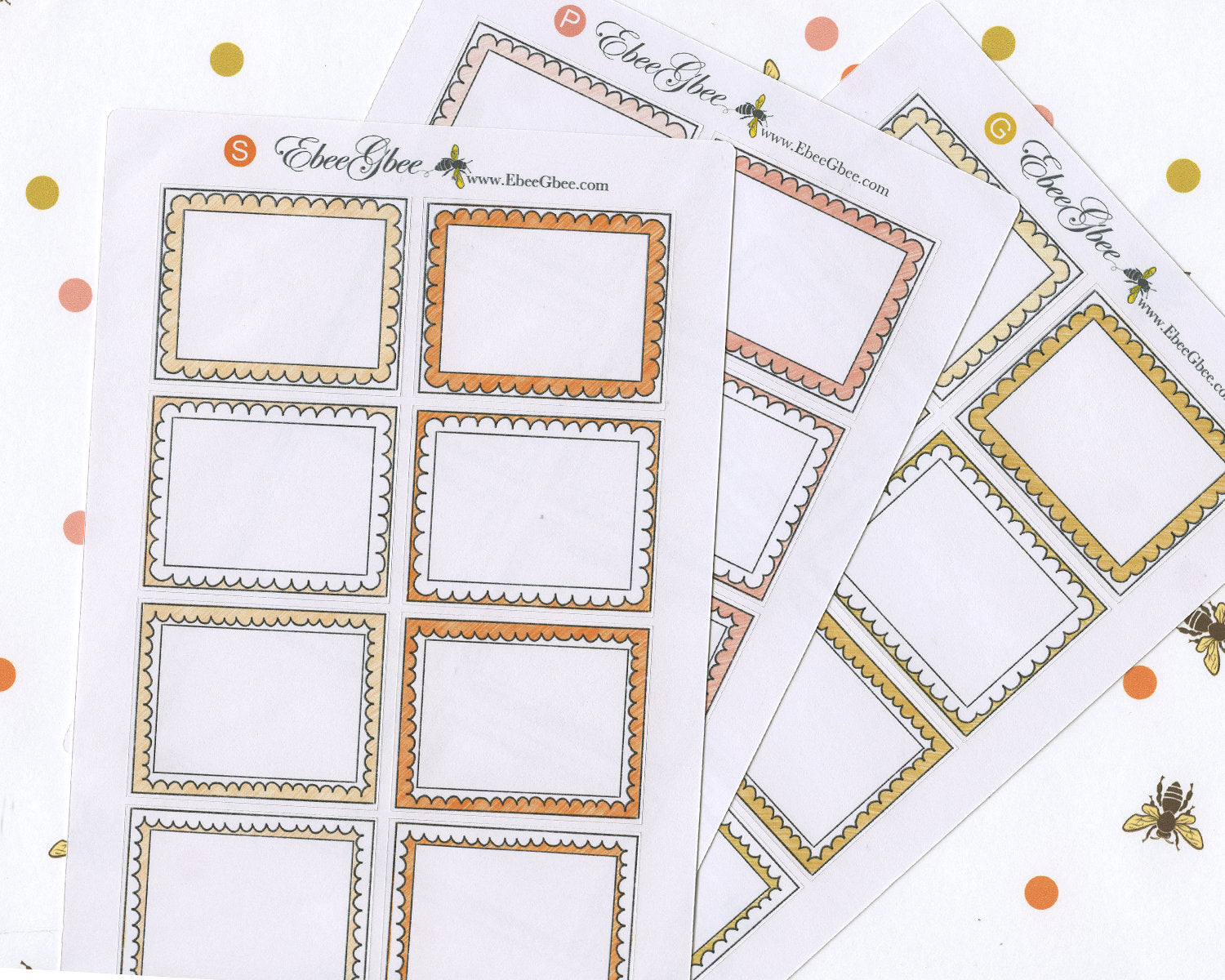 LARGE DOODLE BOXES Planner Stickers | BeeColorful